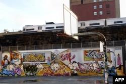 Стена школы в Гарлеме
