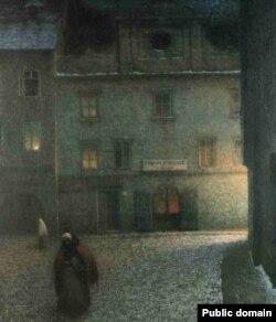 Якуб Шыканэдэр, «Вуліца вечарам» (1906)