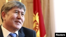 Kyrgyz Prime Minister Almazbek Atambaev is in favor of joining a Russian-led customs union.