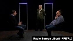 Punct și de la capăt în studioul Europei Libere de la Chișinău.