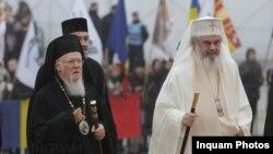 Patriarhul Daniel și Patriarhul ecumenic Bartolomeu I al Constantinopolului, București, 25 noiembrie 2018
