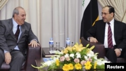 المالكي وعلاوي في لقاء سابق