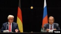 Германия менен Орусиянын тышкы иштер министрлери.