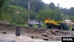 Зруйнований міст - повінь, Західна Україна, 25 липня 2008