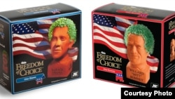 Obama and Romney Chia Pets are just one example of the cute, quirky, and downright bizarre campaign merchandise for sale during the U.S. presidential campaign.