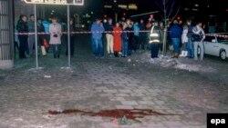 Место убийства Улофа Пальме