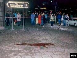 La cîteva ore după asasinarea lui Olof Palme, Stockholm, 1 martie, 1986