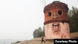 """Граффити """"Большой Брат"""" Никиты Номерза в Нижнем Новгороде"""