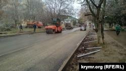 Ремонт улиц в Симферополе, 6 декабря 2018 года