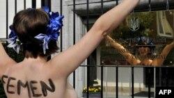 Pamje nga një protestë e grupit Femen