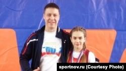 Владимир Маницын со своей воспитанницей