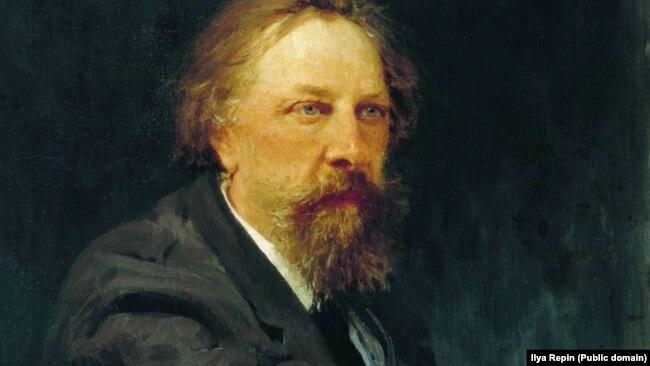Портрет Алексея Константиновича Толстого, художник Илья Репин, 1896 год