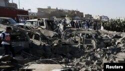 Pamje nga shkatërrimet nga lufta në Jemen