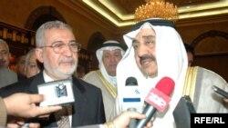 رئيس مجلس الأمة الكويتي جاسم الخرافي يستقبل رئيس مجلس النواب العراقي أياد السامرائي
