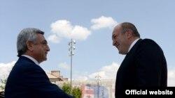Грузия - Президенты Армении и Грузии встречаются в Тбилиси, 18 июня 2014 г.