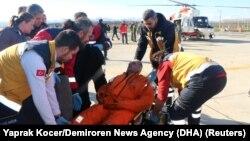 Один из моряков, выживших после кораблекрушения у берегов турецкой провинции Самсун, 7 января 2018 год
