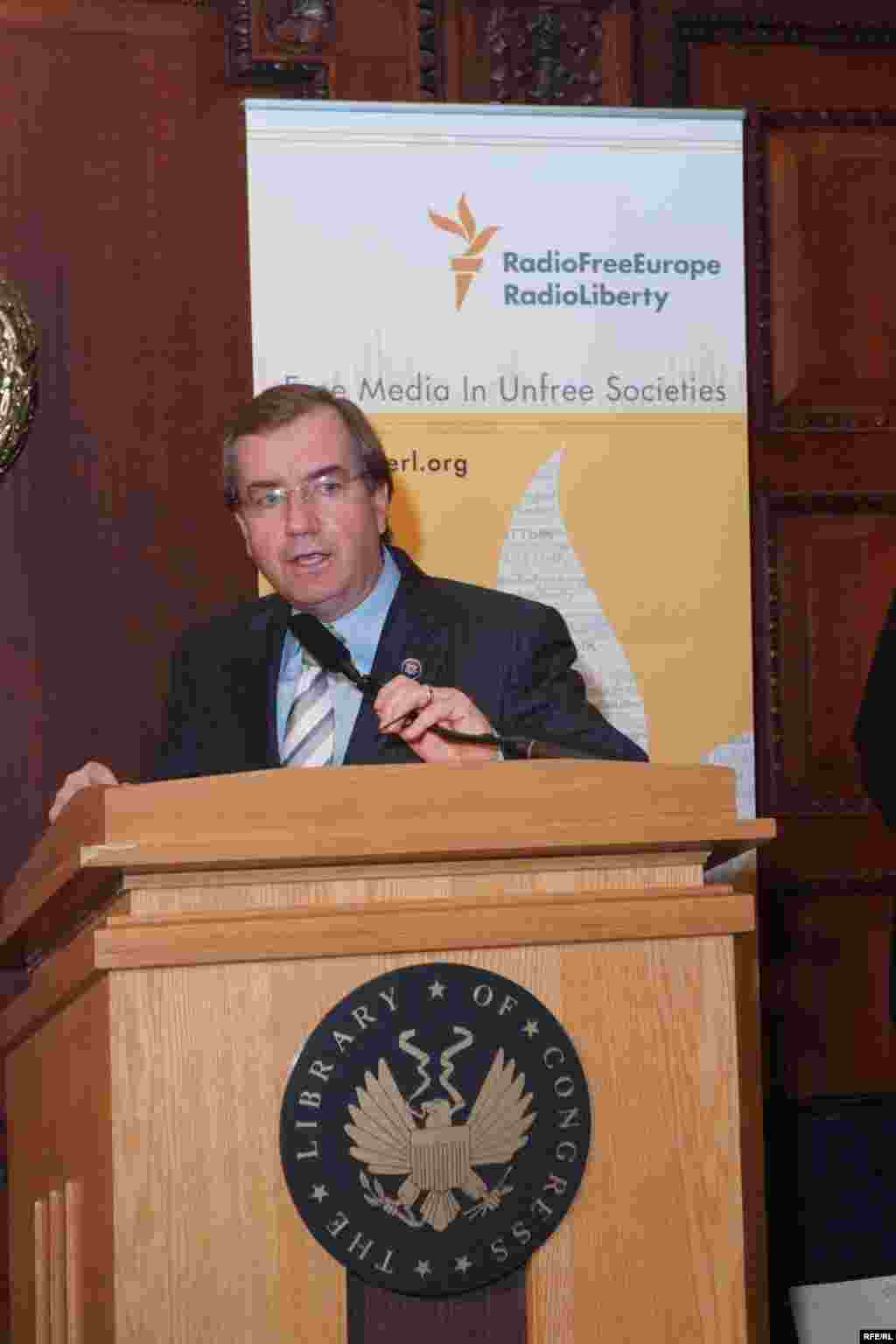 "U.S. Representative Ed Royce (R-CA) speaks at the ""Voices from Afghanistan"" reception at the Library of Congress - (Photo by P. Alunans)"
