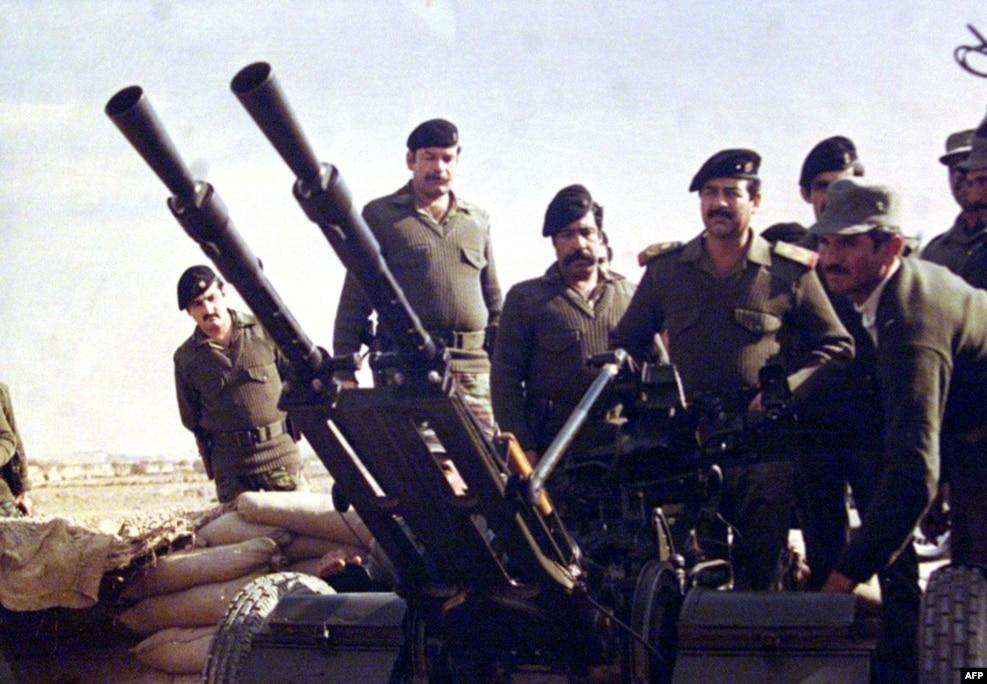 صدام در نزدیکی مرز ایران و عراق در جریان جنگ دو کشور.