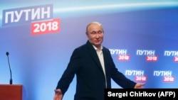 Путин Москвадагы шайлоо штабында. 18-март, 2018-жыл.