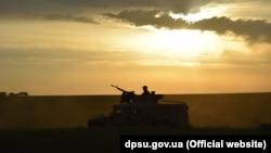 Тренировка Донецкого погранотряда Госпогранслужбы Украины на побережье Азовского моря