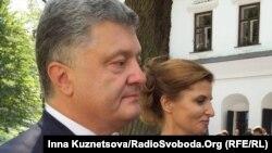 Петро Порошенко з дружиною Мариною, 24 серпня 2015 року