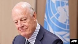 UN Special Envoy to Syria Syria Staffan de Mistura (file photo)
