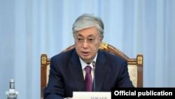Қосимҷомарт Тоқаев, президенти Қазоқистон.