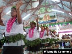 Приветственная церемония в международном аэропорту Кирибати