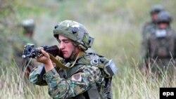ვაზიანის სამხედრო ბაზაზე საჩვენებელი წვრთნა გაიმართა