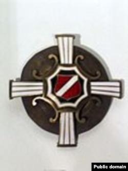 Нагрудный знак Троицкого батальона белых латышских стрелков, 1919