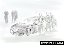 Кортеж Януковича, иллюстрация