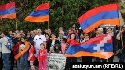 Акция протеста армян перед посольством Турции в Тель-Авиве, 24 апреля 2019 г․