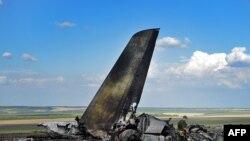 Обломки Ил-76, подбитого сепаратистами под Луганском, 14 июня 2014