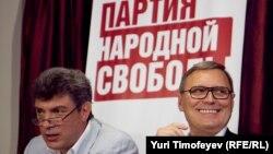 Сустаршыні «Партыі народнай свабоды» Міхаіл Касьянаў і Барыс Нямцоў