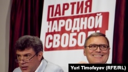 Лидеры ПАРНАСа Борис Немцов и Михаил Касьянов