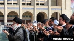 Ayatollah Ali Khamenei of Iran saying Eid Fitr prayers on 15 June 2018