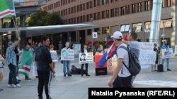 Хорватські вболівальники в Берліні під часу української акції