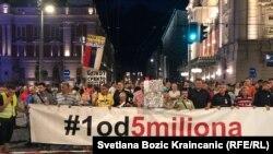 """Protest """"Jedan od pet miliona"""" u Beogradu, septembar 2019. godine"""