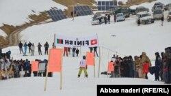 مسابقات اسکی دختران در بامیان