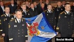 Освящение флага Севастопольского морского собрания, Севастополь, Украина, 29 ноября 2013 года