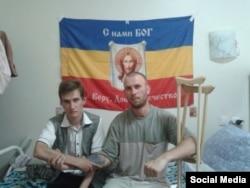 Антон Раевский в госпитале после ранения