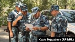 Ішкі әскер сарбаздары. Алматы, 11 қыркүйек 2013 жыл.