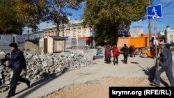 Реконструкция улицы Карла Маркса в Симферополе, октябрь 2016 года