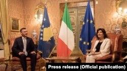 Kryeparlamentari Kadri Veseli dhe presidentja e Senatit të Italisë, Maria Elisabetta Alberti Casellati