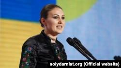 Софія Федина під час з'їзду партії «Європейська солідарність». Київ, 31 травня 2019 року