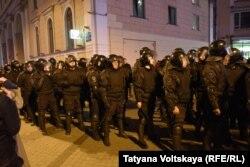 Полицейские оцепления в Санкт-Петербурге 7 октября