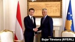 Kancelari austriak, Sebastian Kurz në takim me presidentin Thaçi