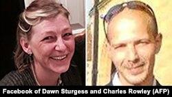 """Погибшая от отравления """"Новичком"""" Дон Стерджесс (слева) и выживший Чарльз Роули"""