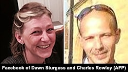 A combo photo of Dawn Sturgess (left) and Charles Rowley
