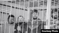 Grupul Ilașcu fotografiat la Tiraspol